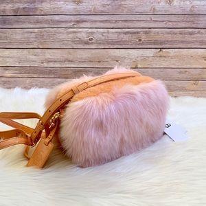 UGG Janey Crossbody Wisp Fuzzy Faux Fur Bag